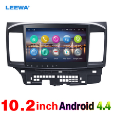 LEEWA 10inch Bigger HD Screen Android 4.4 Car Media Player With GPS Navi Radio For  Mitsubishi Lancer EX(2007-presen) #CA971