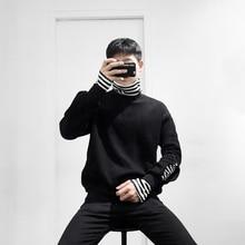 Фотография 2017 Winter Men Korean Style Stripe Collar Long Sleeve Increase Velvet Thicken Casual Warm Solide Color Hoodies Sweatshirts M-XL