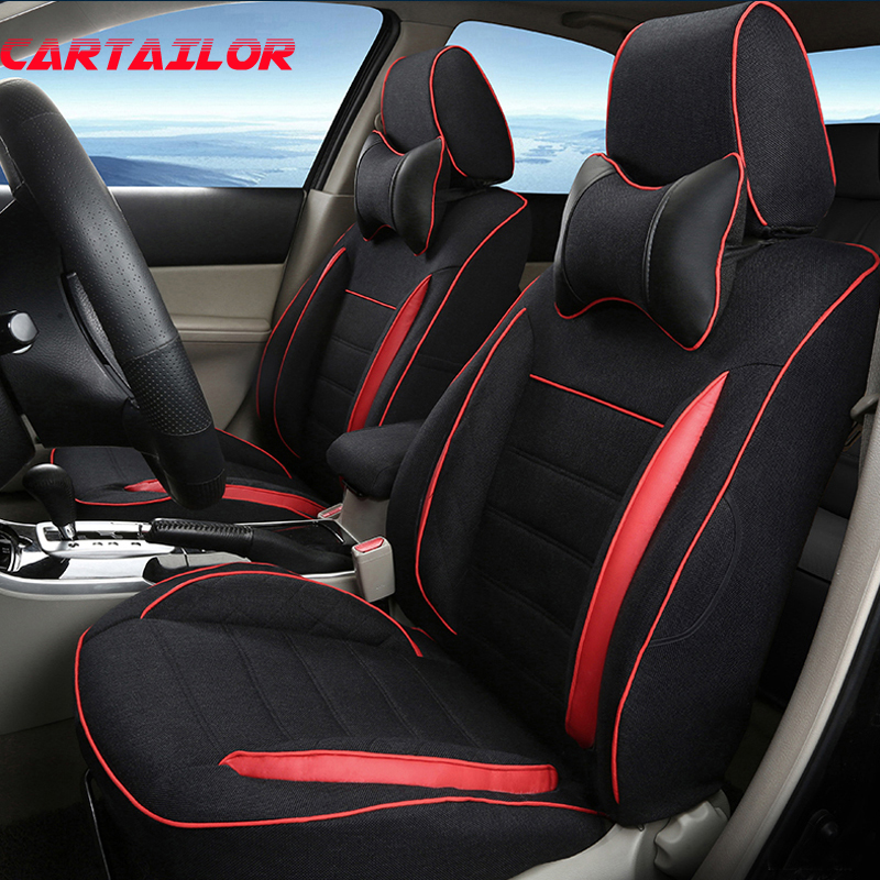 Flax Fabric Car Seat Cover for Jeep Wrangler Cover Seat Car Interior Accessories Cusotm Car Cushion Covers for Car Protection executive car