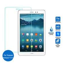 Pour Huawei Mediapad T1 8.0 Trempé Écran de Verre Protecteur 9 h sécurité De Protection Film sur 3G S8-701u Honor Pad Pro T1-821L T1-823L