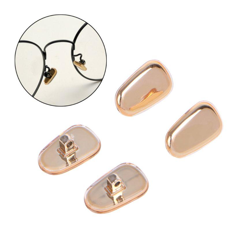 Herren-brillen 2 Paare/los Goldene Silikon Gläser Anti Slip Nase Pads Komfortable Brillen Zubehör Accessoires