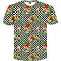 2017 New Casual t shirt Women T shirt Short Sleeve Summer T-shirt Geometric Flowers Tees Women's Strip t-shirts Hot Tops M-4XL