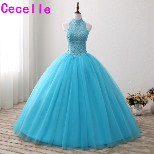 Tulle skirt long prom dress