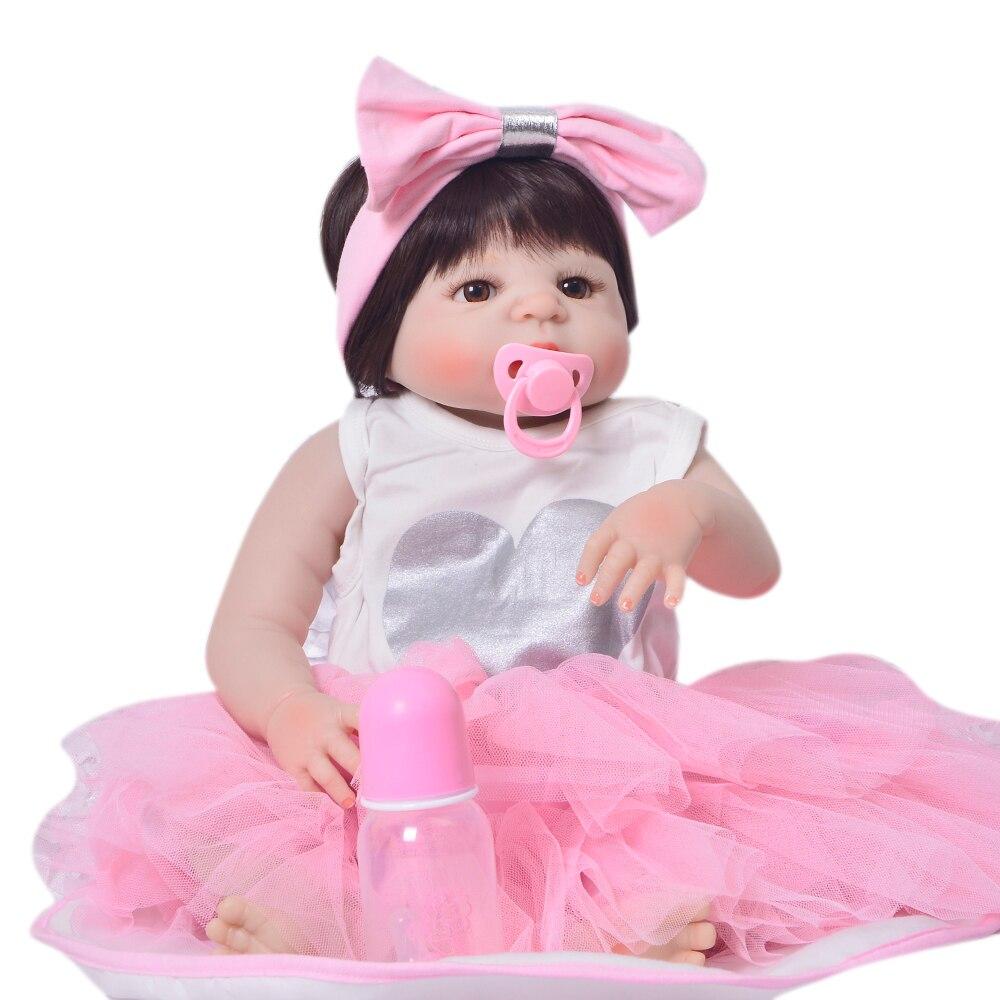Charming 23 ''Reborn Baby Mädchen Puppe Neugeborenen Voller Silikon Vinyl Realistische Prinzessin Reborn Boneca Puppe Für Kinder Geburtstag Geschenke-in Puppen aus Spielzeug und Hobbys bei  Gruppe 2