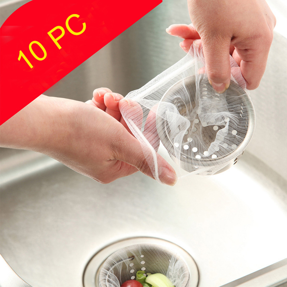 10PC Kitchen Accessories Practical Food Nut Milk Tea Fruit Juice Coffee Wine Nylon Mesh Net Strain Herb Liquid Filter Bag Sink