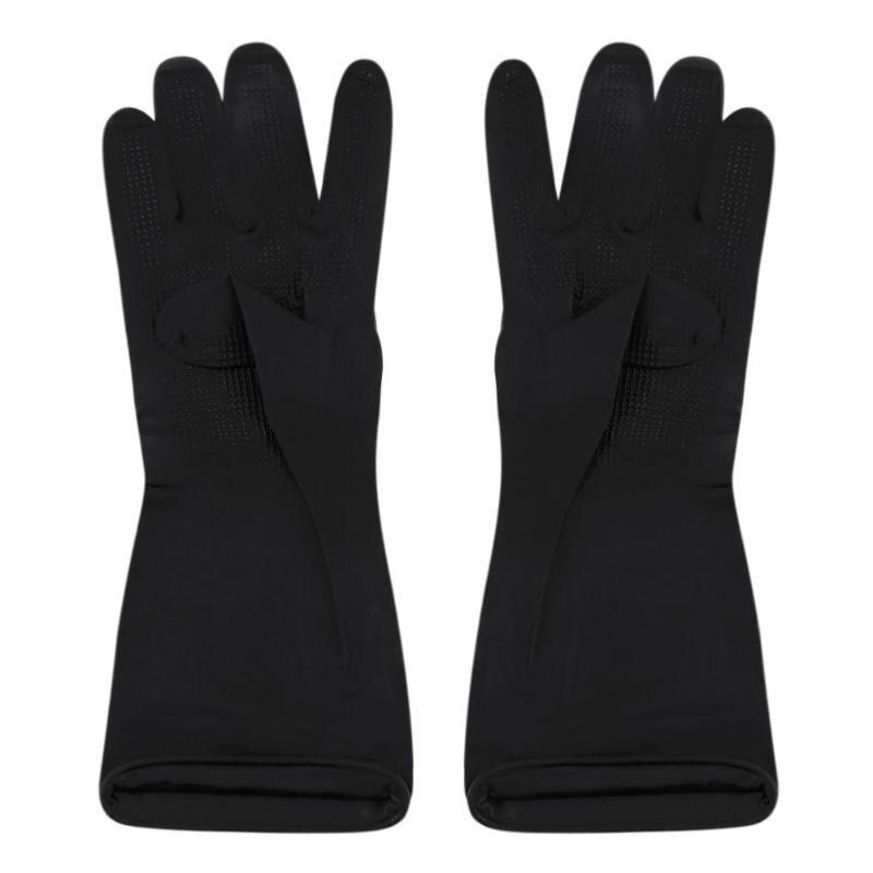 1 Pair Antiskid Gloves Hair Perm Hair Shampoo Hair Coloring Black Latex  Reusable Gloves Salon Hairdressing Styling Tools