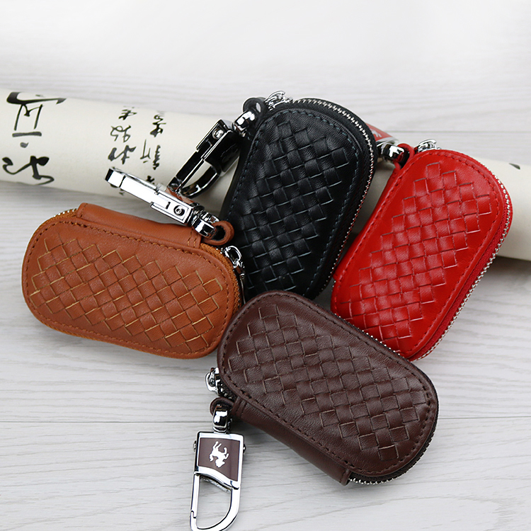 952ef158d6f6 US $7.68 40% OFF Genuine Cow Leather Women & Men Car Key Case Wallet Hand  Woven Key Bag Housekeeper For Lexus RX300 IS250 RX330 GS300 IS200 RX350-in  ...