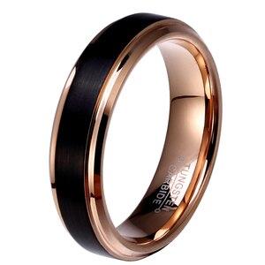 Image 2 - 8mm кольцо мужское кольцо золотое мужские кольца вольфрамовые кольца  кольца из розового золота кольцо для мальчиков женщина звонит мужской перстень юбилейные кольца кольца для девочки розовые кольца для женщин