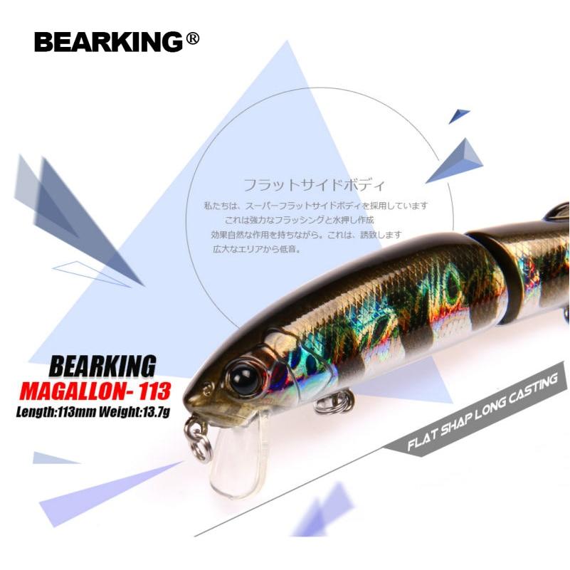 Розничная продажа bearking Лидер продаж 2017 года модель прикормы жесткие приманки 113 мм 13.7 г Гольян оборудованы качество профессиональный черный или белый крючки