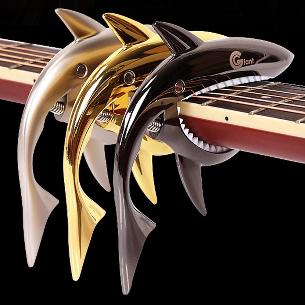 Guitar Accessories Capo : guitar accessories sharks folk guitar capo acoustic wooden guitar capo sound clip in guitar ~ Russianpoet.info Haus und Dekorationen