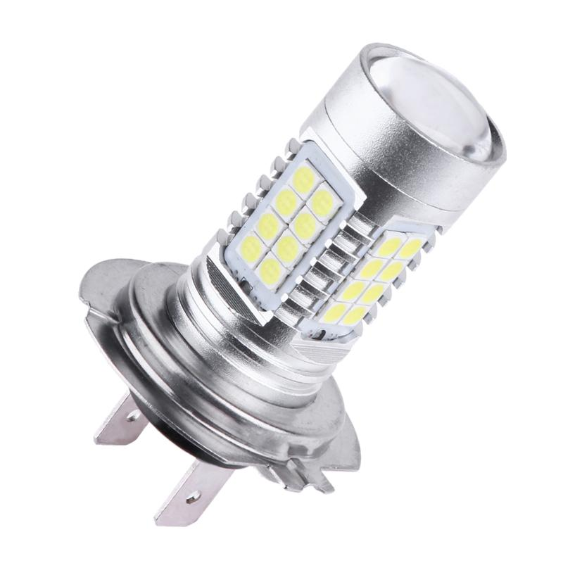 H7 3030 36SMD 120W LED White Light Car Driving Fog Lamp Bulb Automobile Turn Signal Lights Vehicle Reversing Lights 7000K 2x 80w h7 led bulb 16 smd osram car fog light dc 12v 24v 360 degree 760lm white fog light 6000k drl fog lamp light sourcing