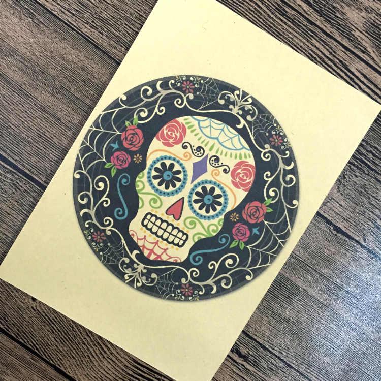 Envío Gratis Punk Vintage pintura papel Kraft cartel calavera Retro Bar Café Pared de salón arte adhesivo para manualidades 42x30cm ZNP-B188