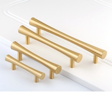 Tbar Gold Brass Drawer Knobs and Pulls Kitchen Cabinet Cupboard Furniture Handles-4Pack
