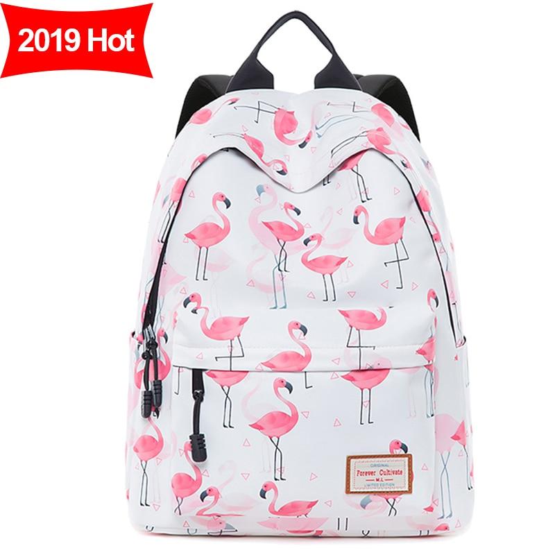 Mulheres mochila Bolsa Escola para Meninas Adolescentes Rosa Flamingo Diárias Mochilas À Prova D' Água Mochilas Kawaii Bagpack Mochila Saco UM Dos