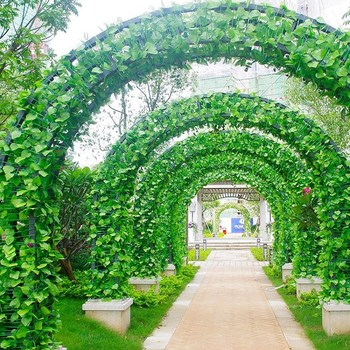 Artificial Fake Hanging Vine Plant Leaves Ivy Garland Home Garden Wall Decoration Rattan for Wedding Supplies Free Shipping