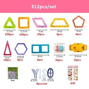 Image 5 - 100 312pcs 20 שילובים שונים של מגנטי מעצב בלוקים בנייה סט דגם & בניין צעצועי פלסטיק בלוקים עבור ילדים