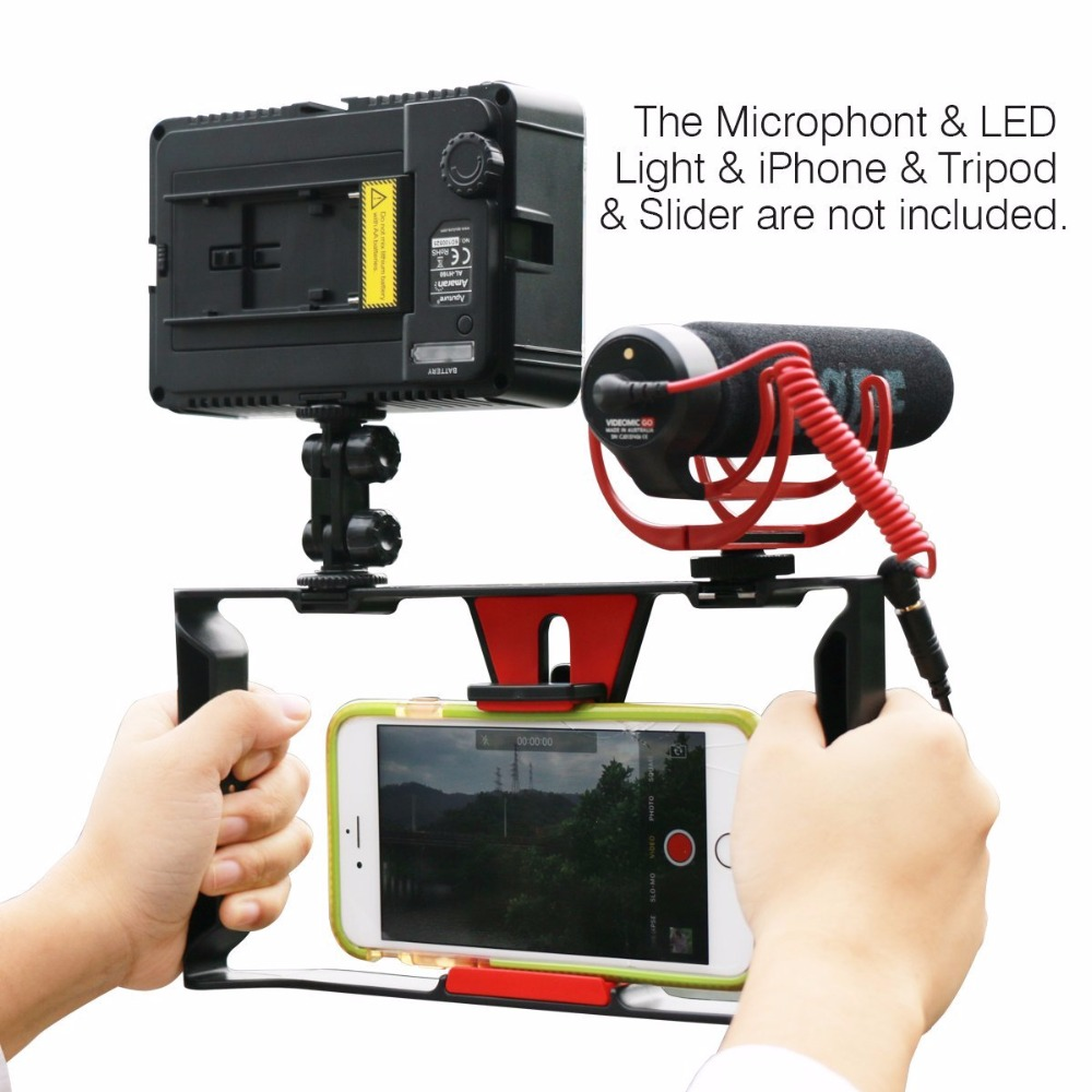 все цены на Ulanz Stabilizer Phone Smartphone Video Case Phone Rig Handheld Smartphone Stabilizer Live Stream Youtube Mobile stabilizer