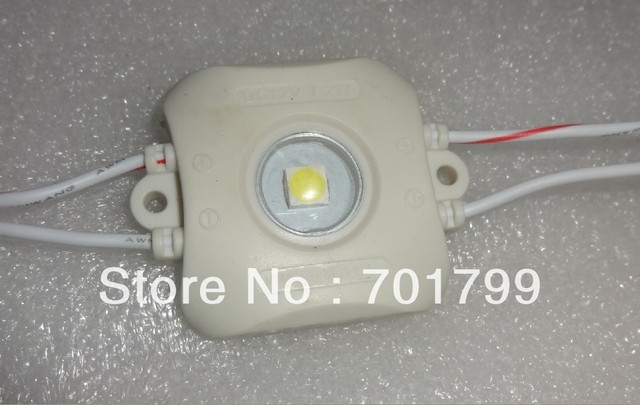WHITE 1.2W 5050 type super bright led module,DC12V input;20pcs a string;injection module,IP65