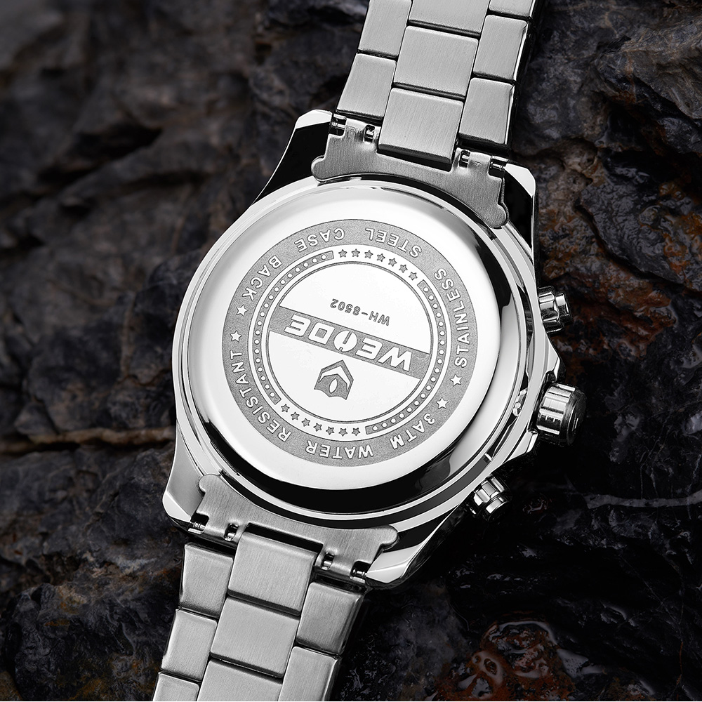 WEIDE Top Luxury Brand Quartz Watches Men LED Digital Clock Man Sports Military Stainless Steel Wrist Watch Relogio masculino 13