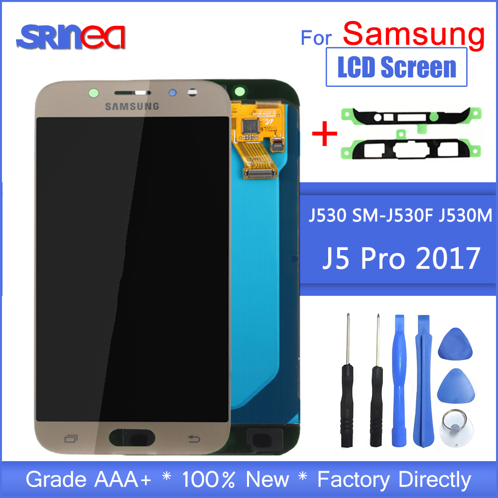 J5 2017 LCD For Samsung J5 Pro Screen Replacement LCD Display And Touch Screen Digitizer Assembly Adjustable With Adhesive Tools-in Mobile Phone LCD Screens from Cellphones & Telecommunications