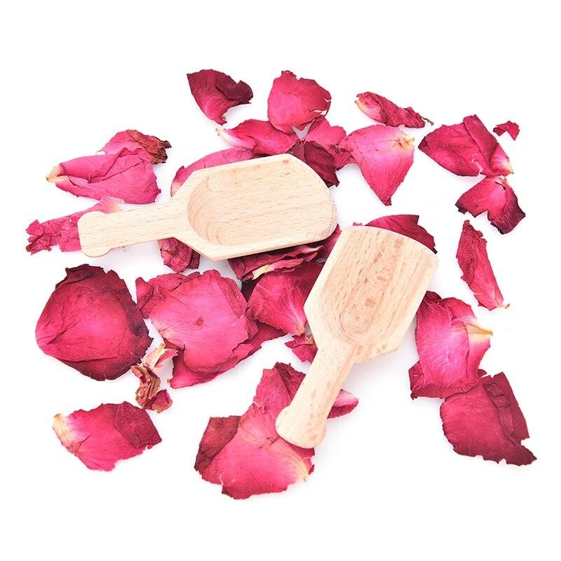 6 PCS/Lot Men/Women Cosmetic Mini Wooden Scoops For Bath Salts Essential Oil Candy Laundry Detergent 3 Bamboo Bath Salt Spoon