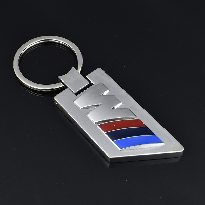 20PCs 3D Metal Chrome Chaveiro Finish ///M Key Chain Fob Ring Stainless Steel Keychain for BMW car styling