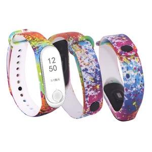 Image 4 - Substituição de silicone alça de pulso para 3 4 inteligente pulseiras Cinta Para Xiao mi mi mi mi Banda 3 pulseira Pulseira para mi banda 4