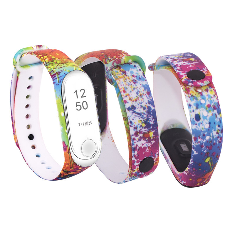 Image 4 - W celu uzyskania silikonowy pasek na nadgarstek dla mi 3 mi 4 inteligentne bransoletki pasek dla Xiao mi mi Band 3 pasek do zegarka na rękę dla mi zespół 4Inteligentne akcesoria   -