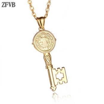 57d9fe135c9d ZFVB Vintage brújula Collar para hombres de cadena de acero inoxidable de  color oro y plata timón ...