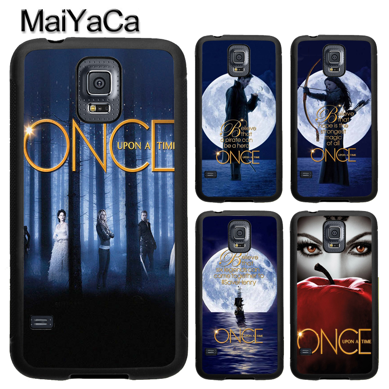 MaiYaCa Once Upon A Time TV Show Mobile Phone Case For Samsung S4 S5 S6 S7 edge S8 S9 Plus Note 8 Note 5 Soft Rubber Capa Para