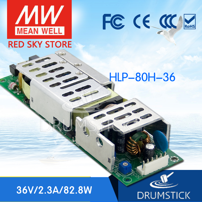 Hot! MEAN WELL HLP-80H-36 36V 2.3A meanwell HLP-80H 36V 82.8W Single Output LED Driver Power Supply tlm3728lf power panel rsag7 820 848 roh hlp 23 a01 a
