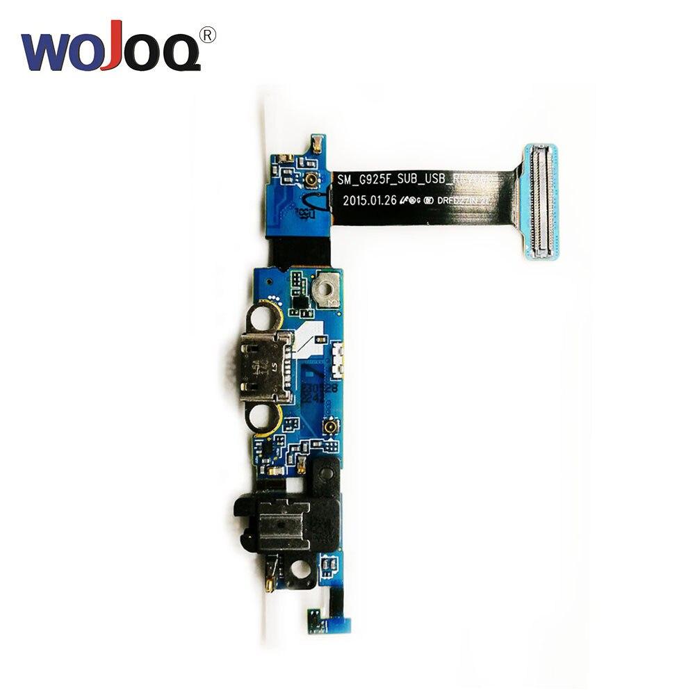 USB Original Doca de Carregamento Porta Para Samsung S6 Borda G925F G925T G925I G925P Microfone Flex cabo de Peças de Reparo