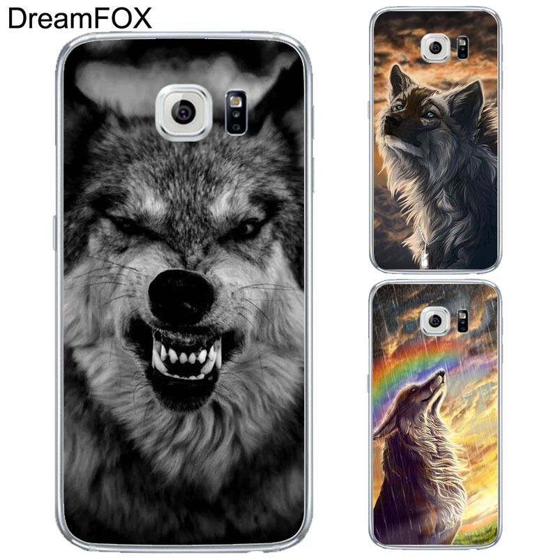 DREAMFOX L277 Wolf Series Design Soft TPU Silicone Case Cover For Samsung Galaxy Note S 3 4 5 6 7 8 9 Edge Plus Grand Prime