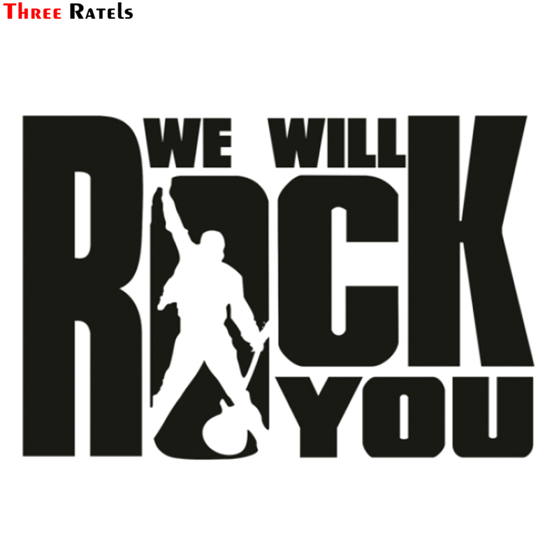 Three Ratels TZ-1371# 15*22cm 1-3 Pieces Car Stickers We Will Rock You Funny Car Sticker Auto Decals