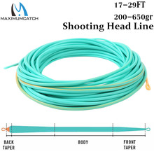 Maximumcatch Skagit Shooting Head Fly Fishing Line With 2 Welded Loops 17 29FT 200 650gr Double Color Floating Fly Line