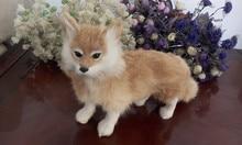 simulation fox about 35*23CM model toy polyethylene & furs fox toy handicraft ,decoration gift t415