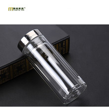 Home 300ml Double glass bottle with