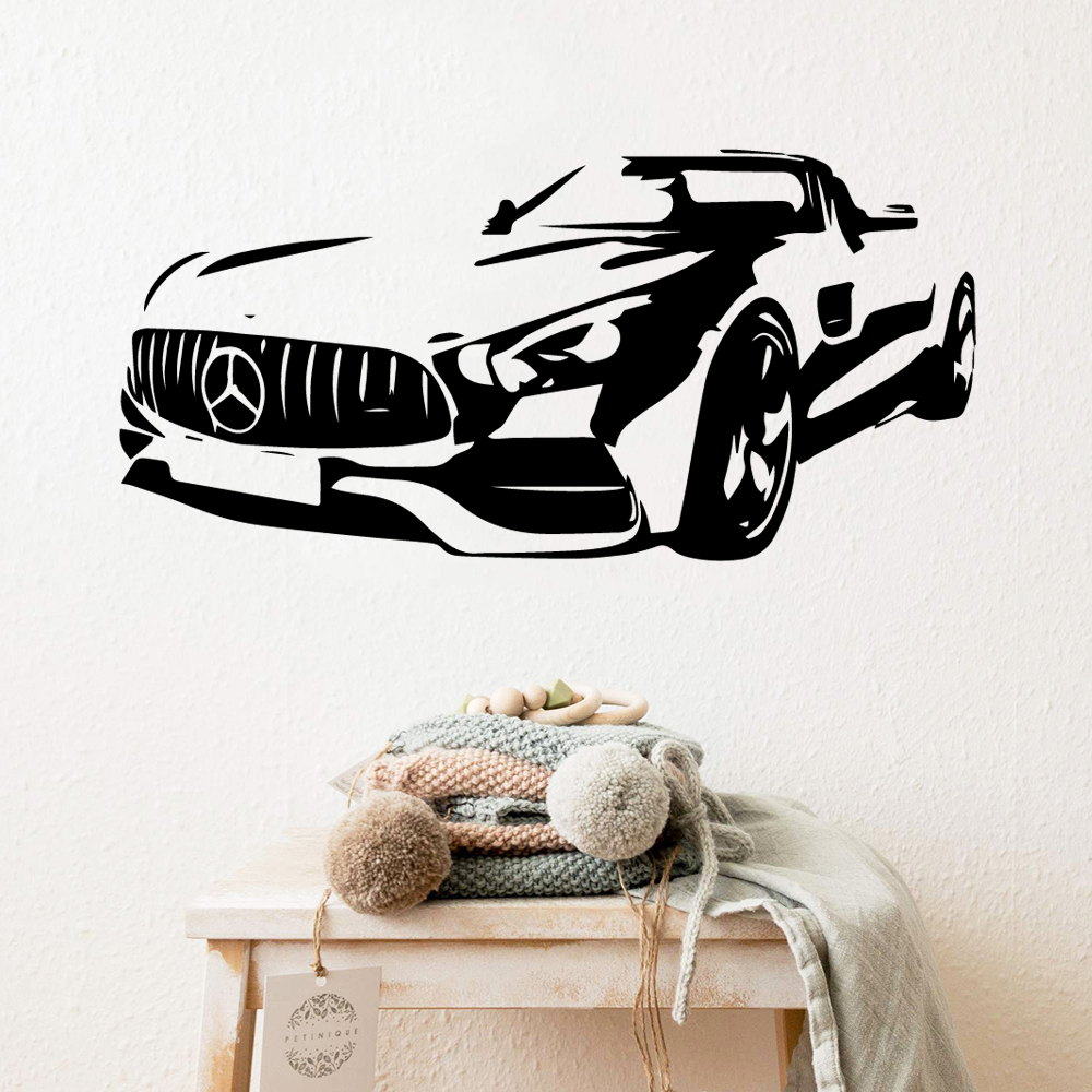 Removable car Wall Sticker Self Adhesive Watercolo Vinyl Mural Wallpaper Waterproof Art Decal