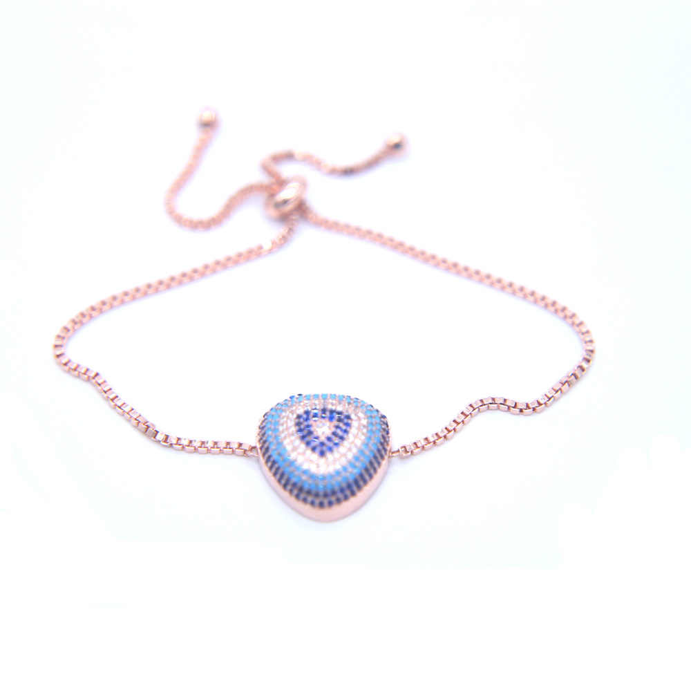 Duży kryształ eye charm bransoletki dla kobiet mężczyzn Pulseras Mujer ślub Charm Cubic cyrkon tenis łańcuch bransoletki i Bangles biżuteria