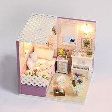 DIY Doll House Miniatura Casa Building With Furnitures Wooden Dollhouse Model Gift Toys For Children Love In Budapest M007 #E