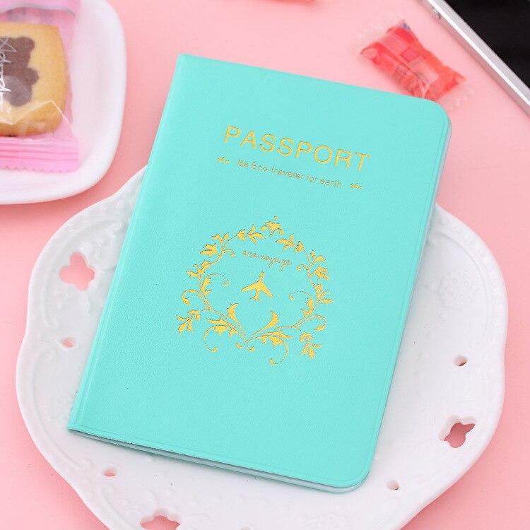 Card-Case Documents-Bag Passport-Holder Travel Fashion Sweet Brand Candy -C