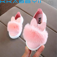 Spring Children Sneaker Kids Shoes Fashion Girls Rabbit Ears Outdoor Casual Shoes Girl Princess Bow Tie Sport Shoe