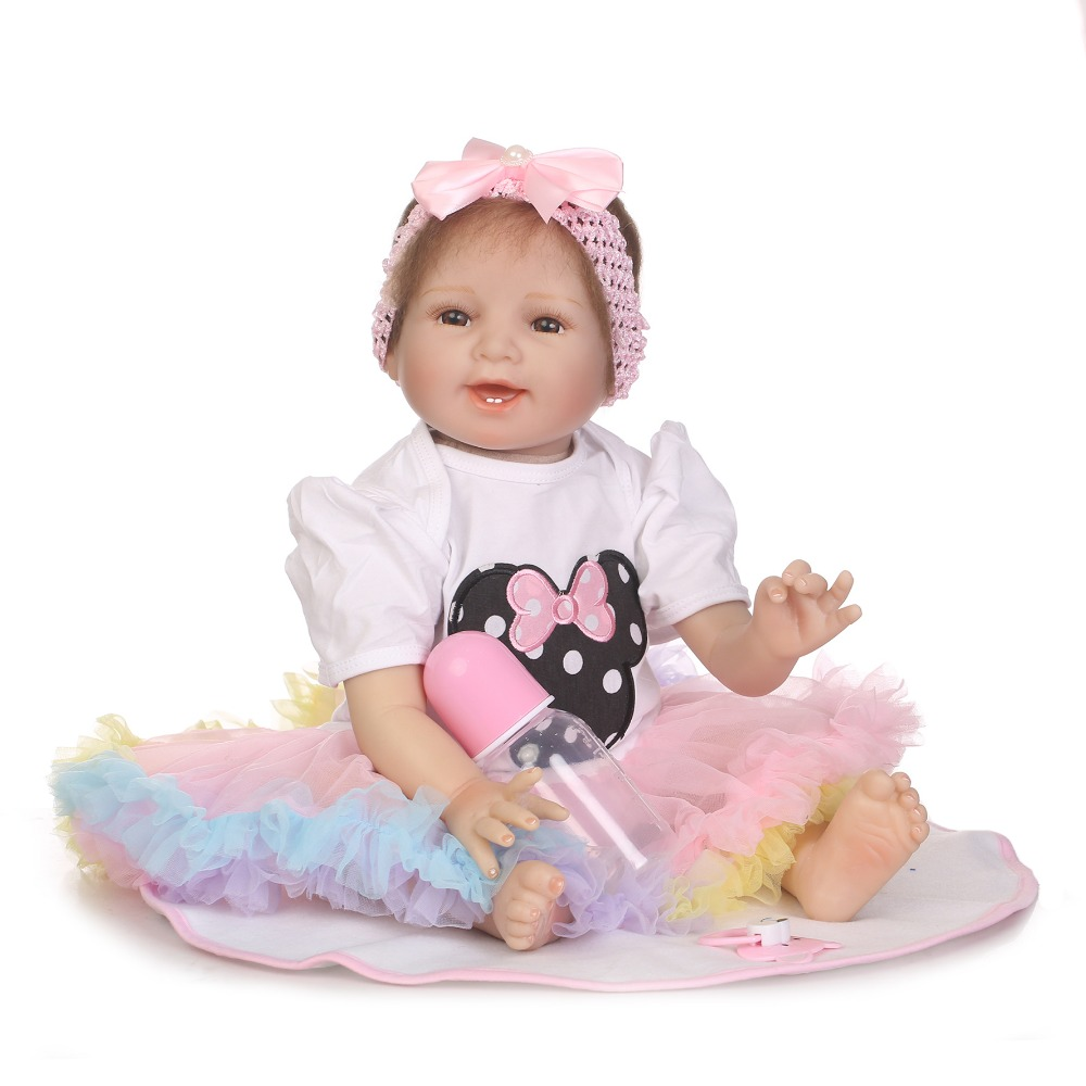 NPKCOLLECTION simulation reborn baby doll with soft real gentle touch doll boneca reborn silicone vinyl toys for children NPKCOLLECTION simulation reborn baby doll with soft real gentle touch doll boneca reborn silicone vinyl toys for children