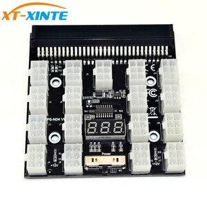 Black PCI-E 17x 6Pin Power Supply Breakout Board Adapter Converter 12V for Ethereum BTC Antminer Miner Mining HP Server PSU GPU(China)