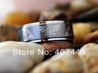 Free Shipping USA UK Canada Russia Brazil Hot Sales 8MM Satin Silver Legend Of Zelda Men