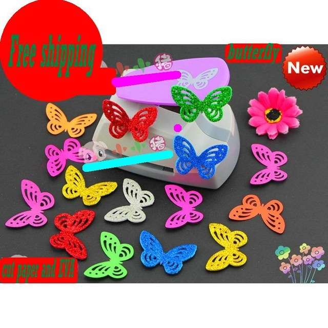 Free Shipping 2015 New 4 5cm Butterfly Punches Limited Edition Large