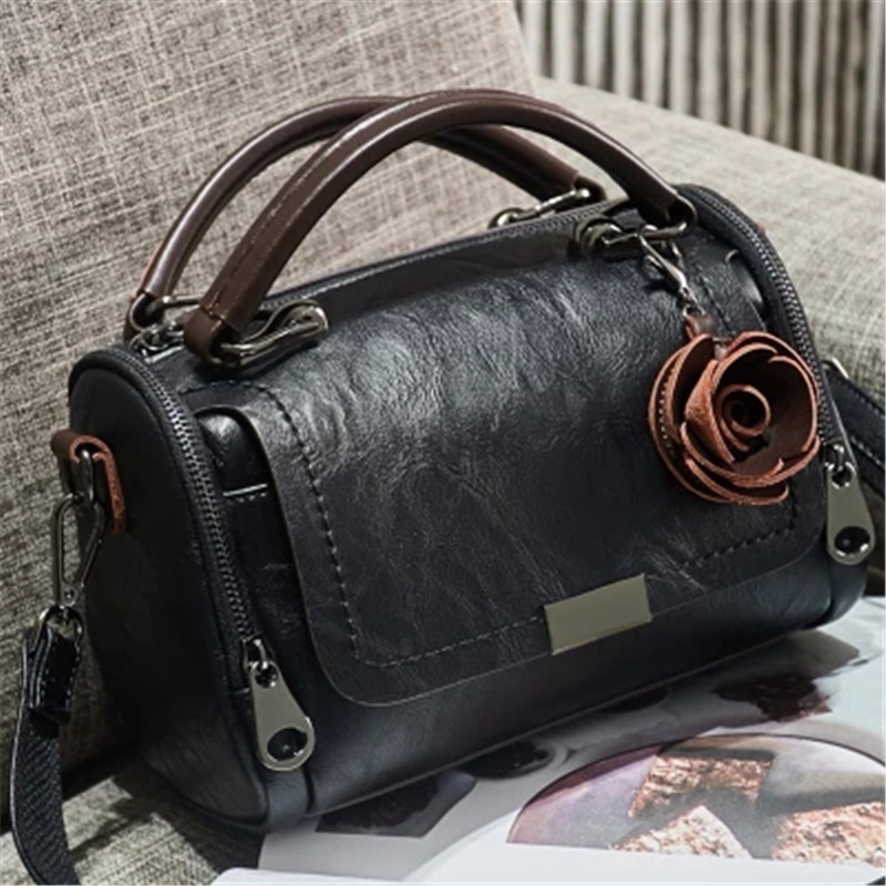 Brand leather handbags 2018 trendy simple fashion personality leather bag diagonal portable shoulder bag handbag цены