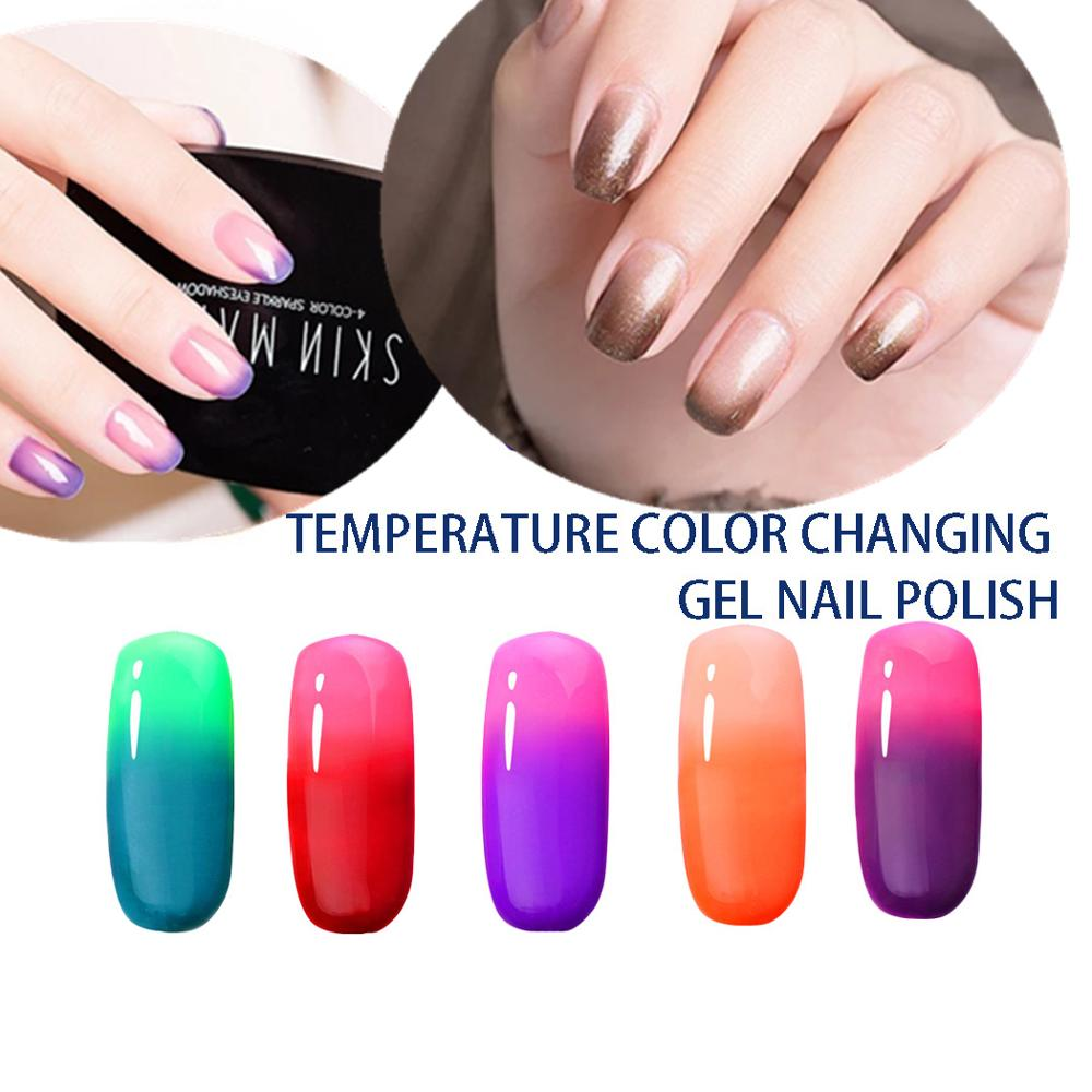 Win Long 1pcs 10ml 25 Colors Gel Nail Polish Colour Changing Blue Sky Heat Cool Thermal Crystal Nails Uv Led In From Beauty