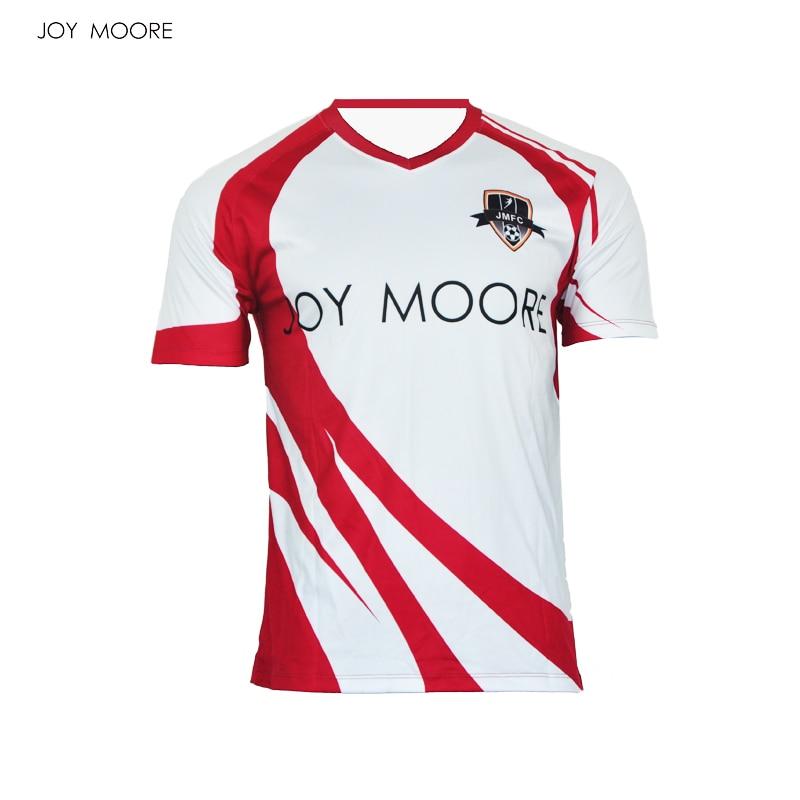 Sublimation Printing Men Soccer Jerseys Polyester V Collar