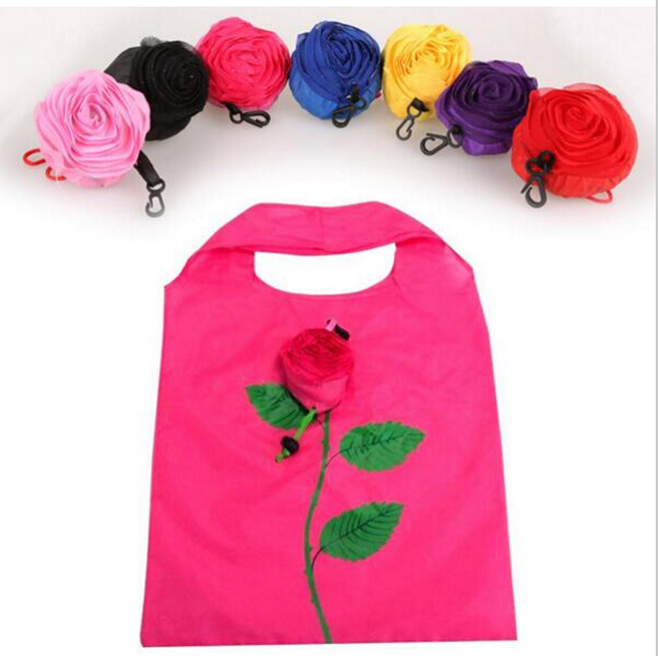 New Fashion Rose Flowers Reusable Foldable Bag Shopping Bag Travel Grocery Bags Tote Drop Shipping